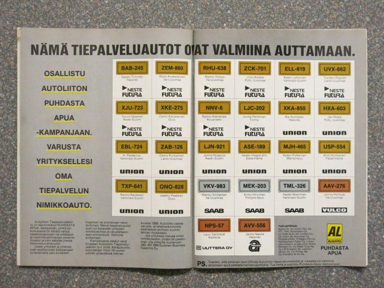 Päivän automainos: Yritykselle oma tiepalvelun nimikkoauto