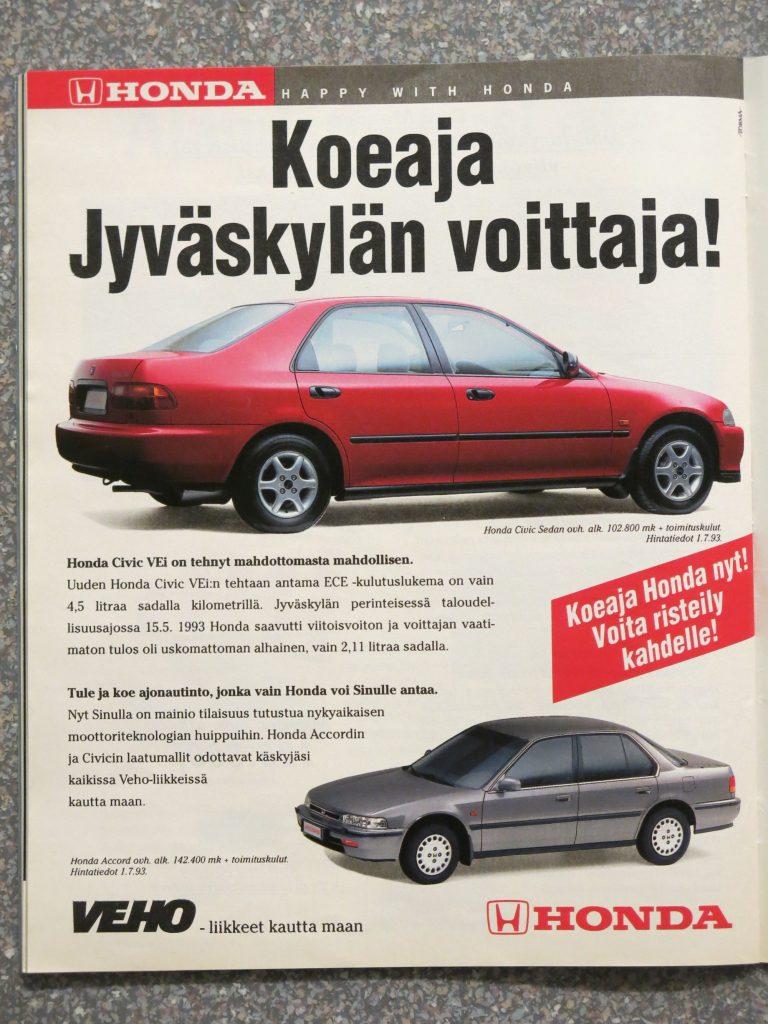 Päivän automainos: Koeaja Jyväskylän voittaja