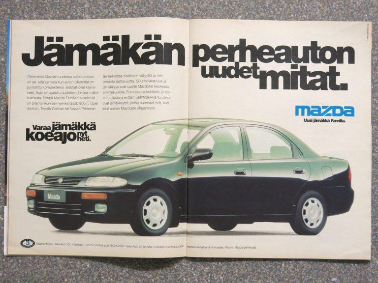 Päivän automainos: Mikä ihmeen Mazda Familia?
