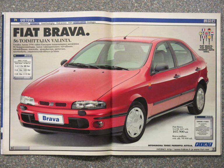 Päivän automainos: Vuoden auto 1996