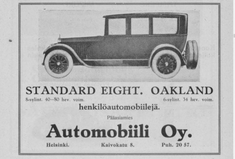 Päivän automainos: Standard Eight ja Oakland