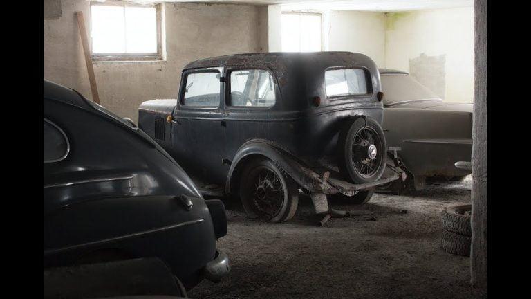 Huikea latolöytö Ruotsissa: Yli 40 vuotta piilossa olleita autoja huutokaupataan – katso video!