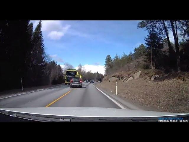 Video: Katso Volvon hurja nokkakolari kuorma-auton kanssa – kuljettaja säilyi vammoitta!