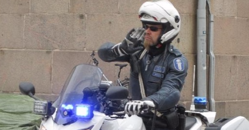 Moottoripyörä on tehokas työväline poliisille