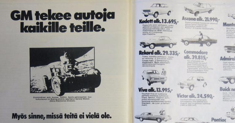 Päivän automainos: GM tekee autoja kaikille teille