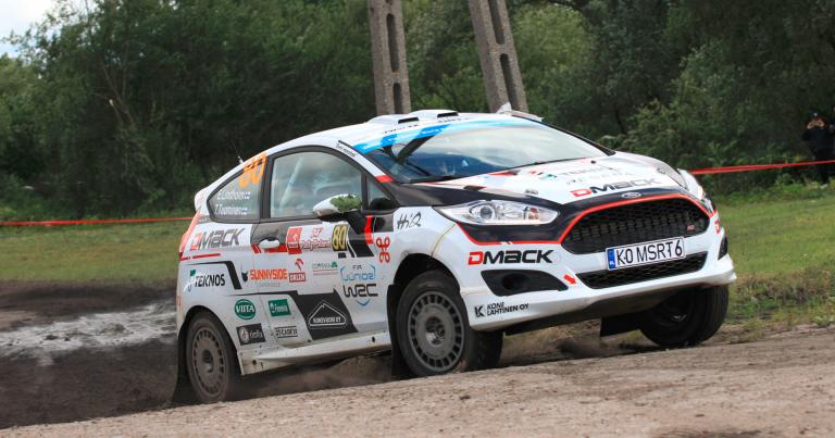 WRC: Eilen keskeyttänyt Emil Lindholm ajoi tänään Puolassa JWRC-luokan pohja-ajan