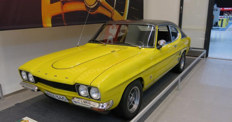 Päivän museoauto: Fordin eurooppalainen vastine Mustangille