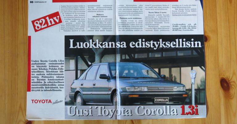 """Päivän automainos: """"Luokkansa edistyksellisin – Uusi Toyota Corolla 1.3i"""""""