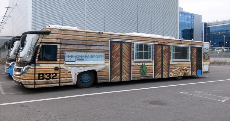 Päivän kuva: Helsinki-Vantaan saunabussi!