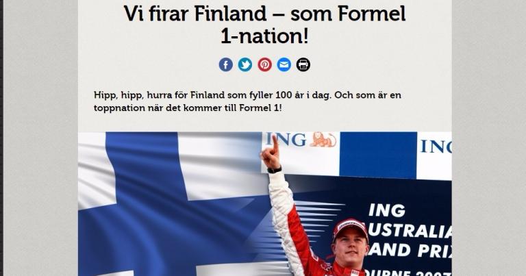 Kunnianosoitus Suomelle: Ruotsin Teknikens Värld -lehti juhlii Suomea nimeämällä maa F1landiksi!