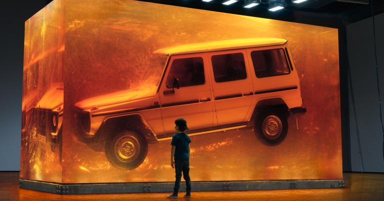 Mercedes-Benzin alkuperäinen G-sarjalainen laitettu talteen tulevia sukupolvia varten