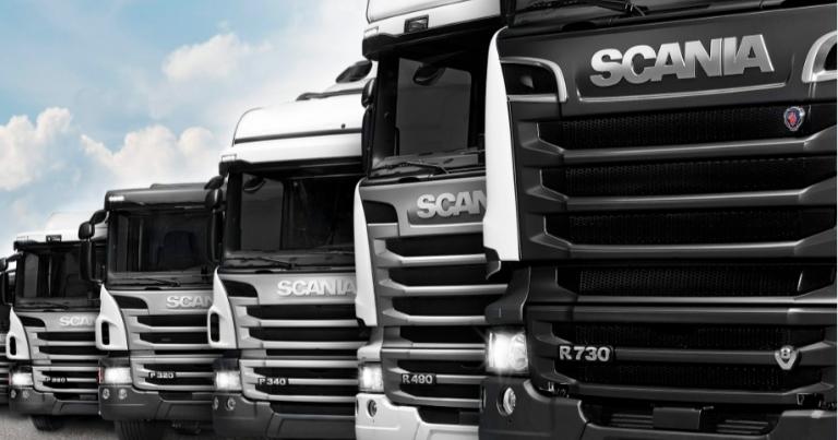Scanian kaksipalkeiset tukiakselit parantavat kuorman käsiteltävyyttä pystysuunnassa