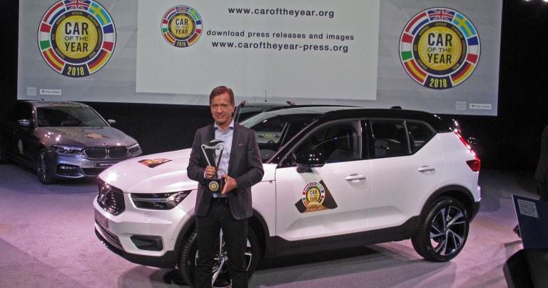 Volvo XC40 valittiin Vuoden Autoksi Euroopassa selvällä erolla Seatiin