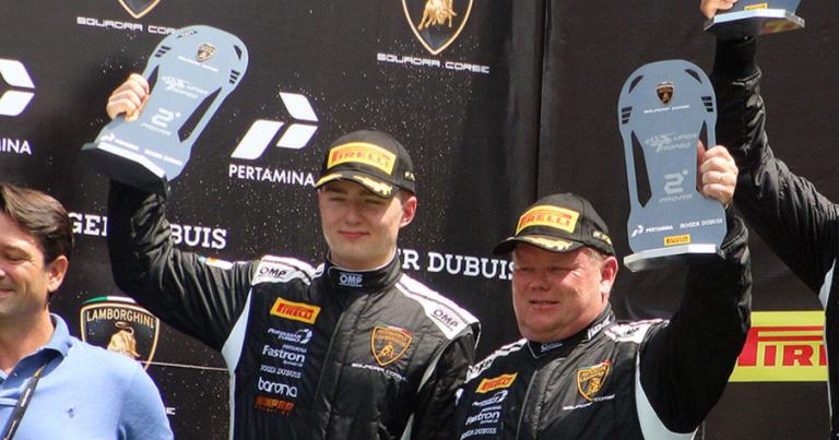 Puhakka ja Eskelinen ajoivat toiseksi sunnuntain Lamborghini-kisassa