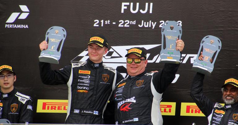 Juuso Puhakalle ja Mikko Eskeliselle voitto Japanin Fujista