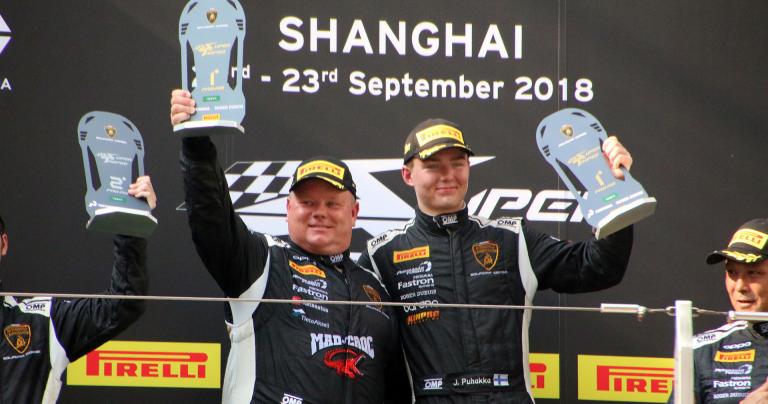 Lamborghini Super Trofeo -sarjan Shanghain kisa päättyi suomalaisjuhlaan