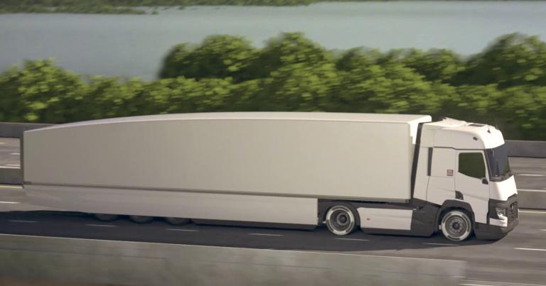 Tämännäköisellä konseptiautolla haetaan 13 prosentin vähennystä perävaunuyhdistelmän kulutukseen