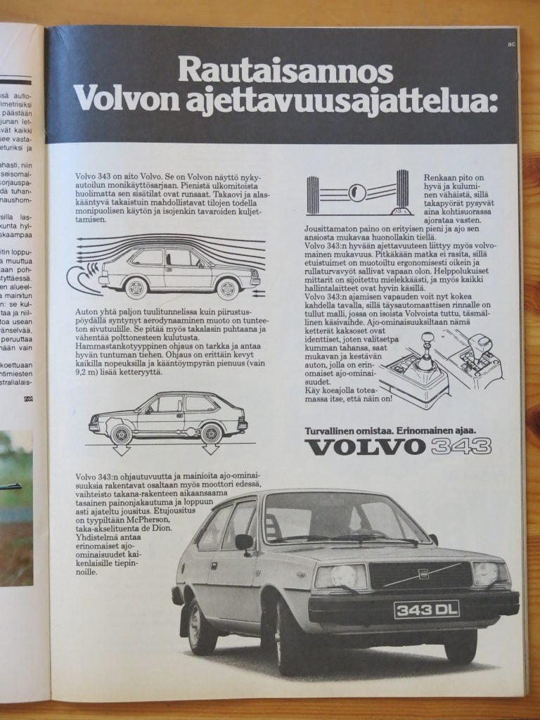 """Päivän automainos: """"Rautaisannos Volvon ajettavuusajattelua."""""""
