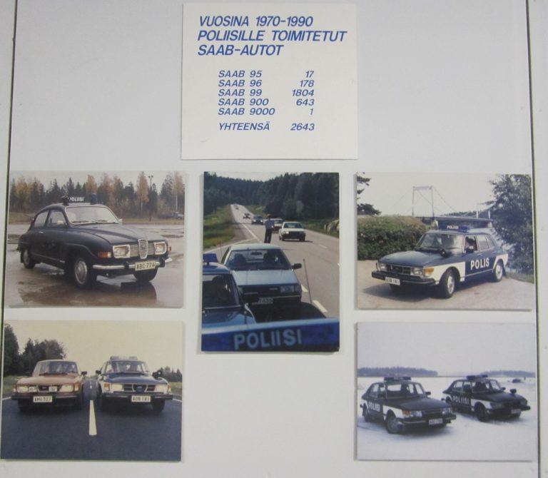 Päivän kuva: Poliisille toimitetut Saab-autot