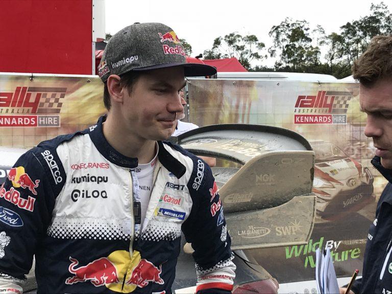 WRC: Teemu Suninen ei päässyt maaliin asti Australian MM-rallissa