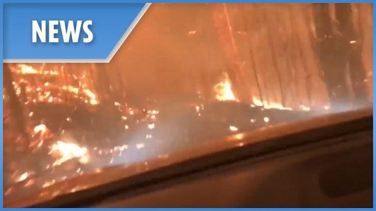 Video: Järkyttävä pakomatka Kalifornian tulipalon keskellä