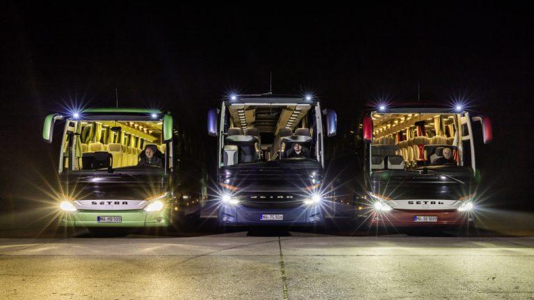 Mercedes-Benzin ja Setran linja-autoihin tarjolla led-valot