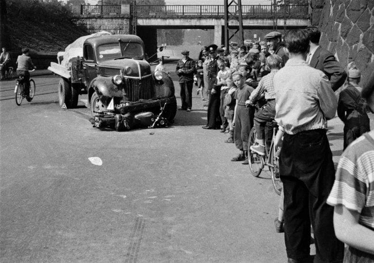 Päivän kolarikuva: Kuorma-auton ja moottoripyörän kolari