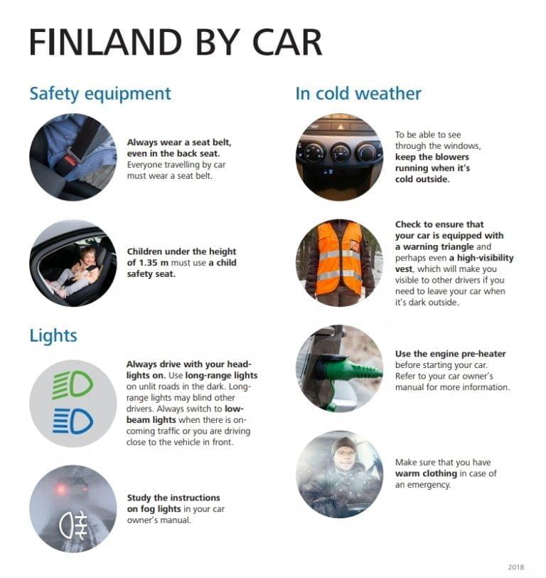 Tästä esitteestä paljon hyötyä ulkomaiselle autoturistille
