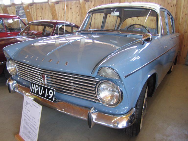 Päivän museoauto: Vuonna 1964 tämä Hillman maksoi 10 300 markkaa