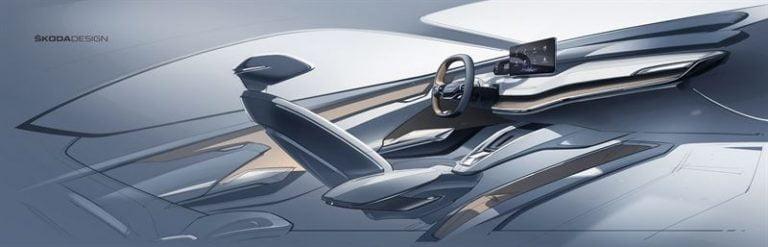 Tältä näyttää Škodan sähköautokonseptin sisätilat