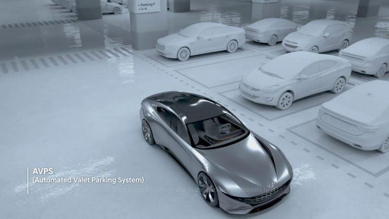 Näin sähköauton langaton lataus ja automaattinen pysäköinti voi toimia tulevaisuudessa