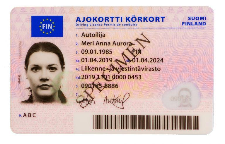 Ajokortin ulkonäkö muuttuu — tältä uusi kortti näyttää