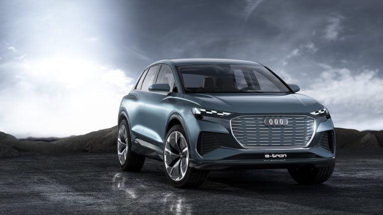 Audi esittelee Genevessä sähköisen Audi Q4 -mallin konseptin