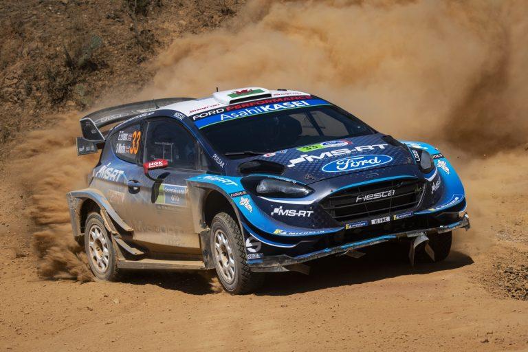 WRC: Tänak enää 3,8 sekuntia Evansista