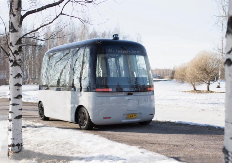 Joka sään robottibussi ajoi neitsytmatkansa Helsingissä