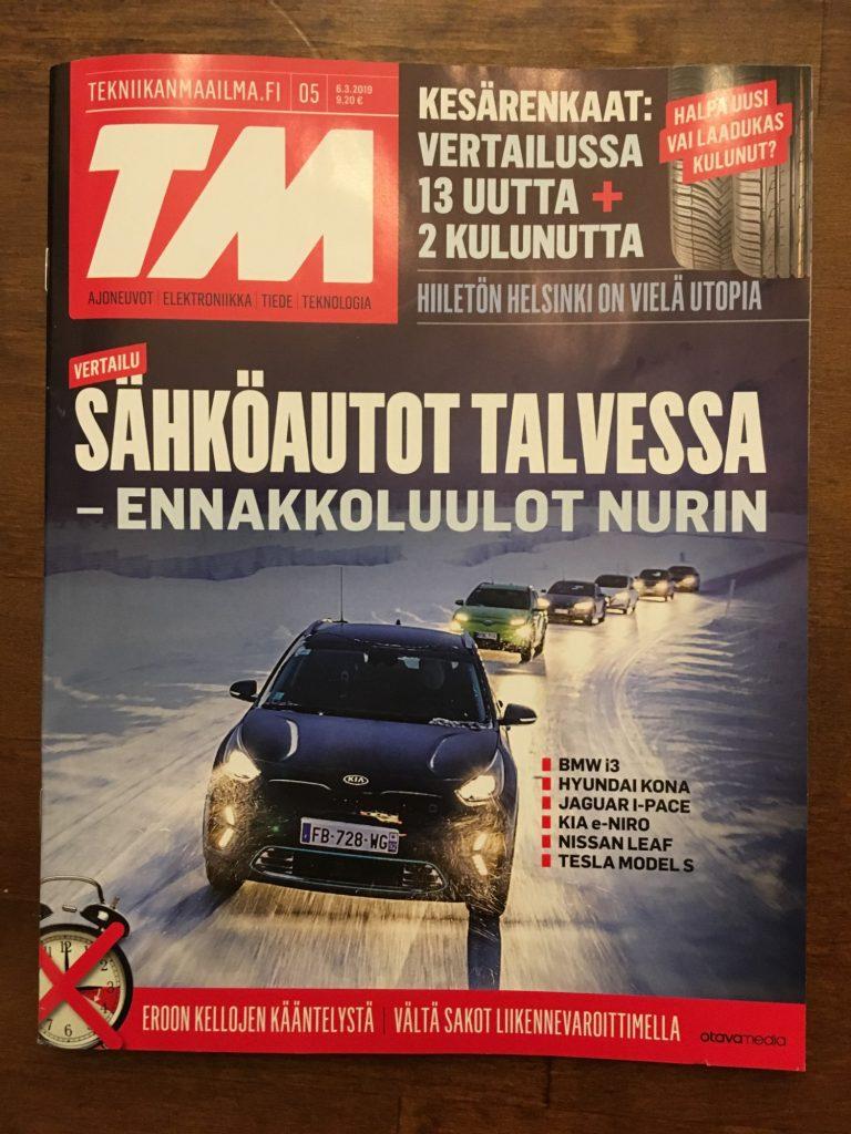 Jaettu voitto TM:n sähköautojen talvivertailussa