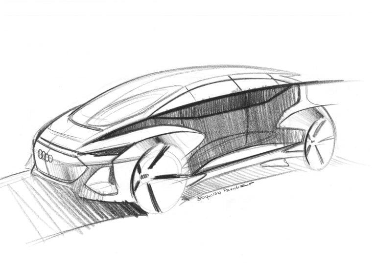 Tälläistä robottiautoa Audi kaavailee megakaupunkeihin