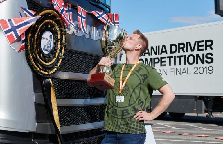 Norjalainen Andreas Nordsjø on Euroopan paras Scania-kuljettaja