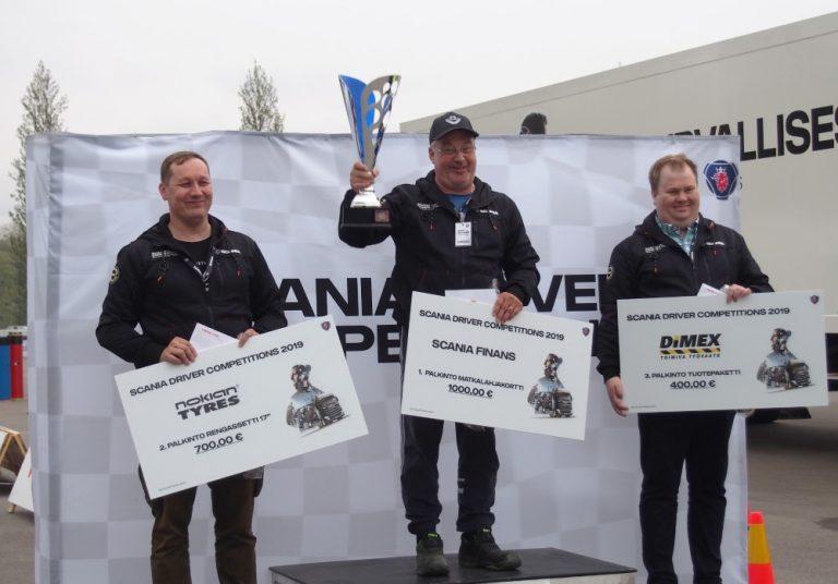 Scanian kuljettajakilpailun Suomen kisan voittaja pääsee kisaamaan uudesta Scaniasta