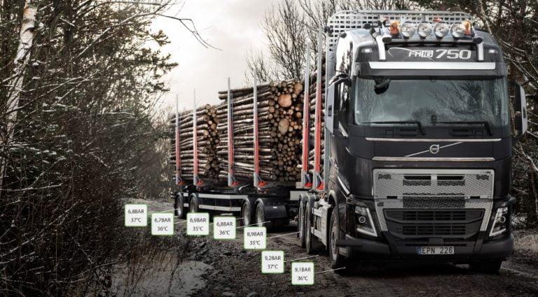 Volvon kuorma-autoihin tarjolla renkaiden etävalvonta