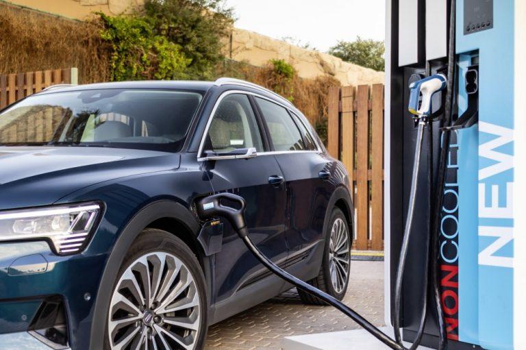 Audin sähköautoa voidaan ladata 150 kilowatin teholla