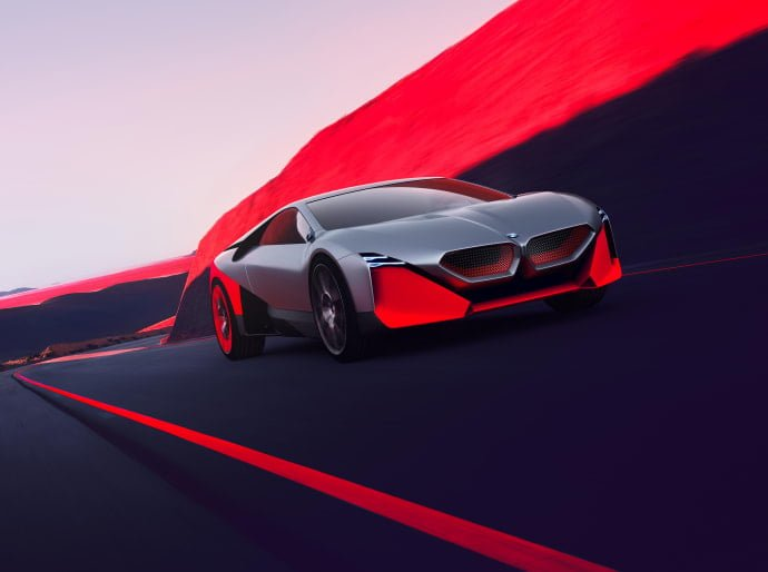 BMW esitteli tulevaisuuden urheiluauton — nollasta sataan kolmessa sekunnissa