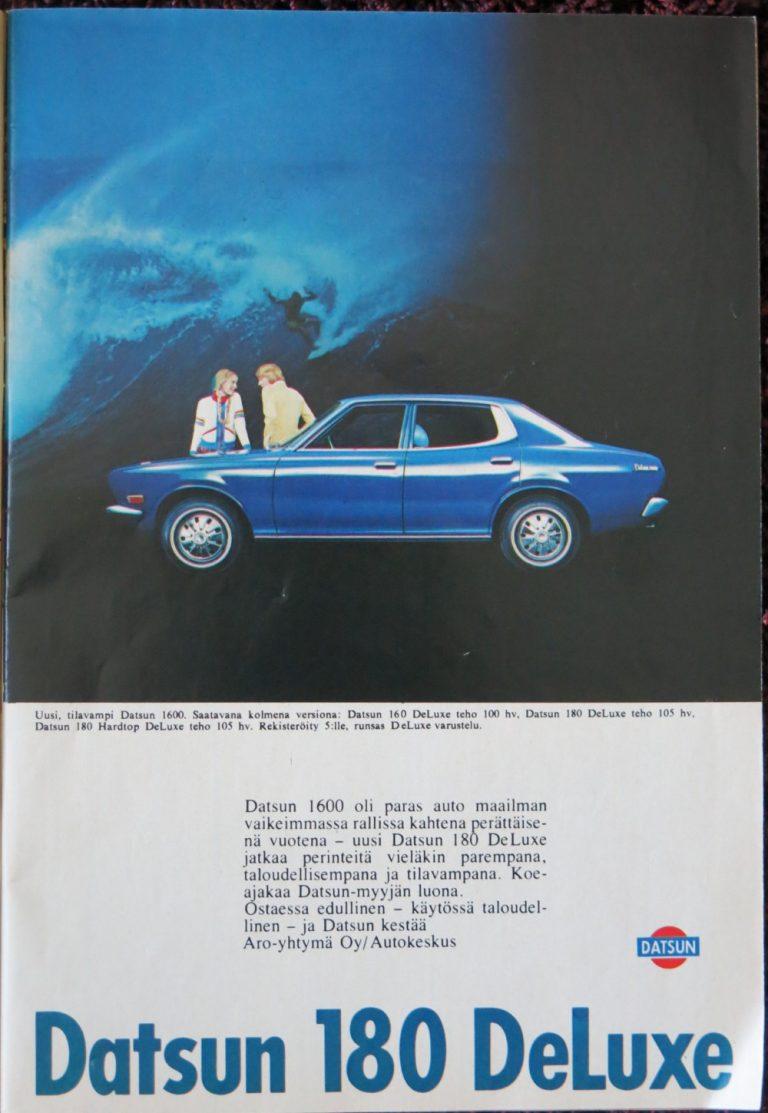 Päivän automainos: Datsun 1600 -perheen terästetty versio