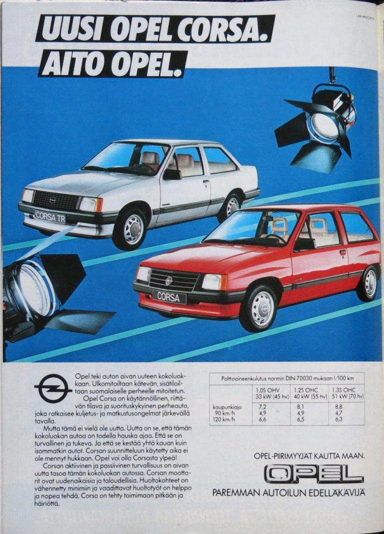 Päivän automainos: Uusi Opel Corsa. Aito Opel.