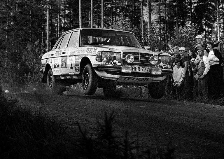 Päivän taksiauto: Tarkalleen 40 vuotta sitten Jyväskylän MM-rallissa luokkavoiton napannut taksiauto