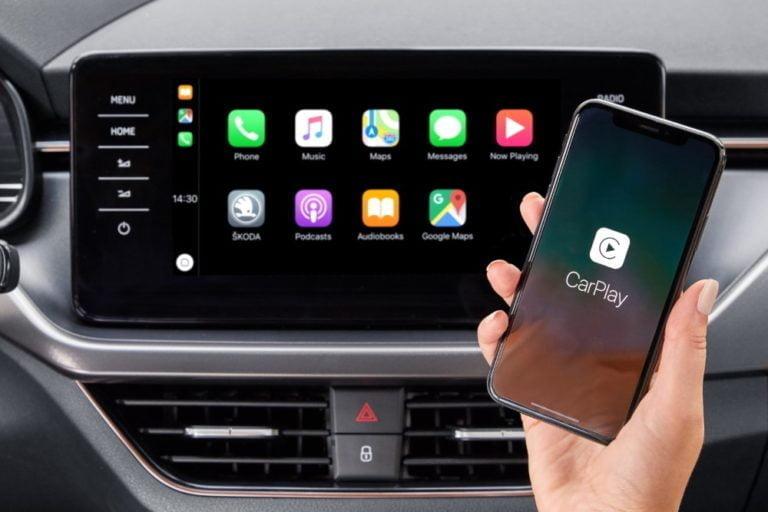 Škoda Scalassa ja Škoda Kamiqissa langaton yhteys älypuhelimille