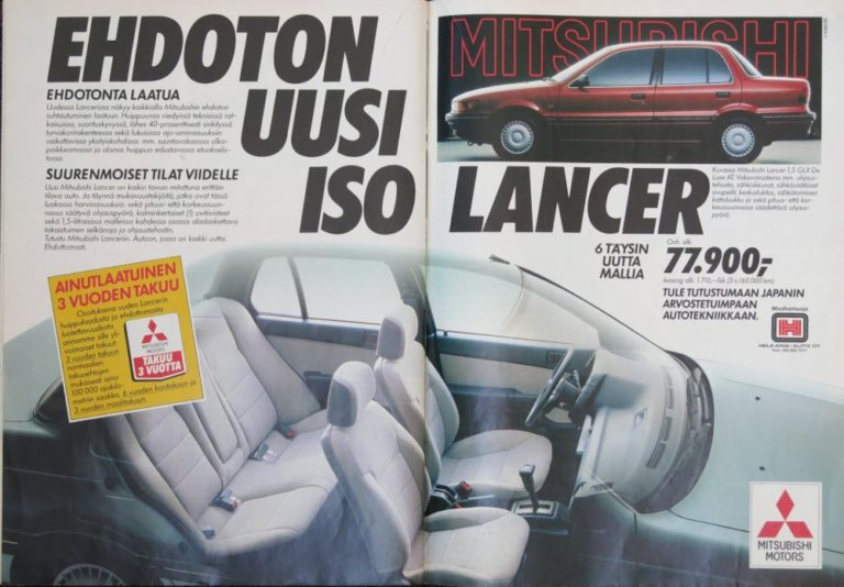 Päivän automainos: Ehdoton uusi iso Mitsubishi Lancer