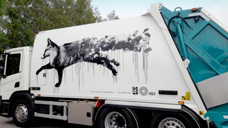 Pääkaupunkiseudulle tulee taidejäteautoja