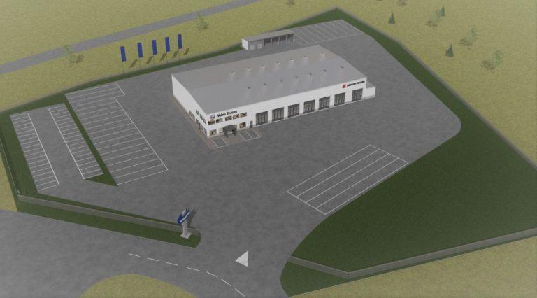 Jyväskylään tulossa uusi Volvo Truck Center