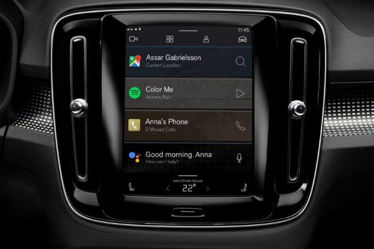 Volvo XC40 -sähköautossa on monipuoliset Googlen palvelut